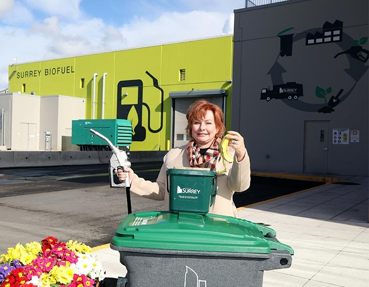 Surrey Biofuel Facility Mayor Linda Hepner