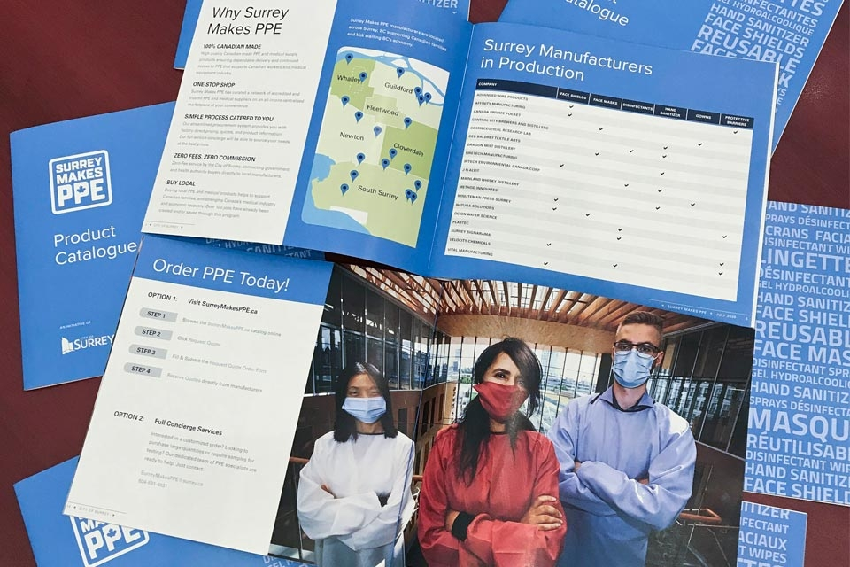 Surrey Makes PPE Brochure