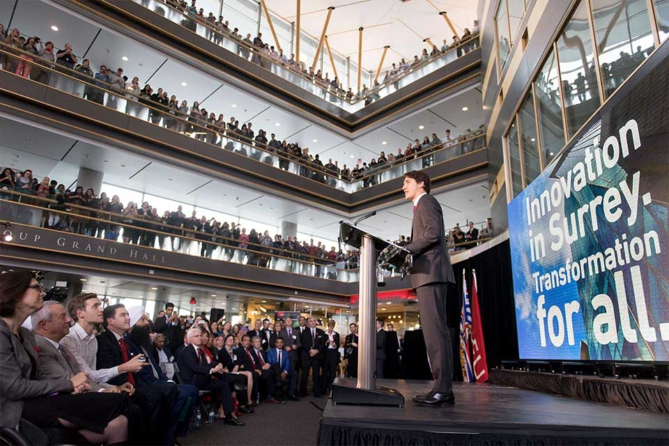 Prime Minister Trudeau and Innovation in SFU Surrey