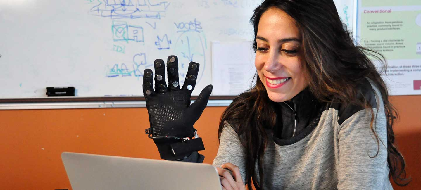 SFU Girl with Tech Glove